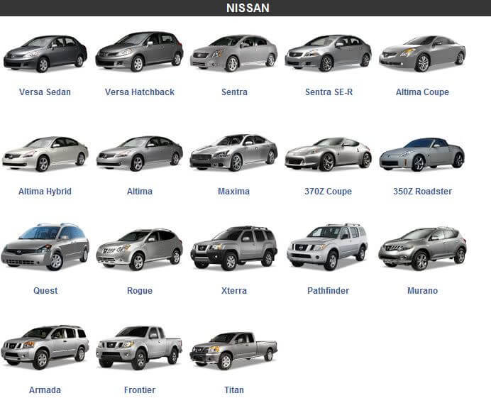 Cars from Nissan