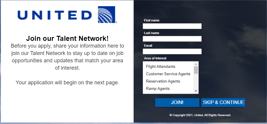 Apply here for the Jobs in United Airlines Company