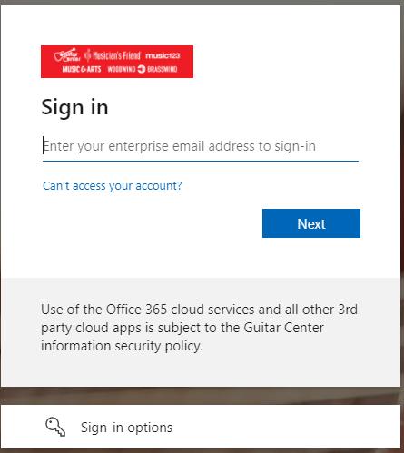 Guitar Center Employee Web Portal
