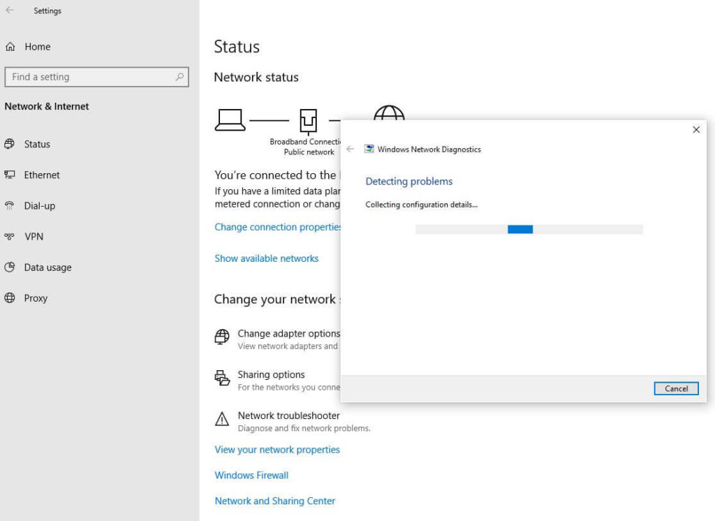 Fix Network Connection Issues Windows 10