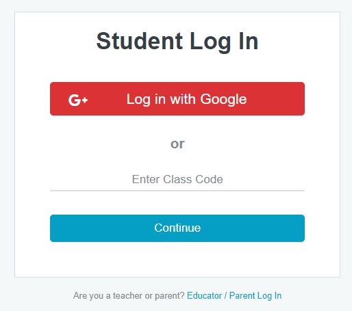 ReadWorks Student Login Page